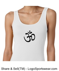Ladies OM Symbol Tank white Design Zoom